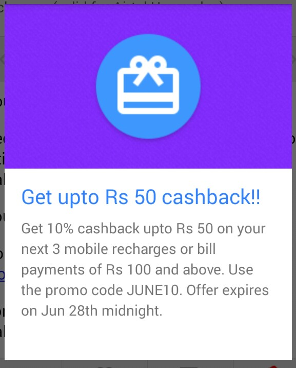 Smartapp- Get flat 10 cashback on your recharge (All Operators)
