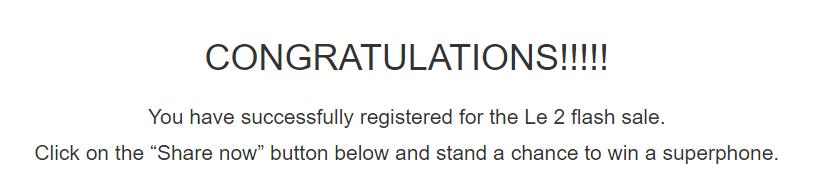 lemall le eco 2 smartphone registration
