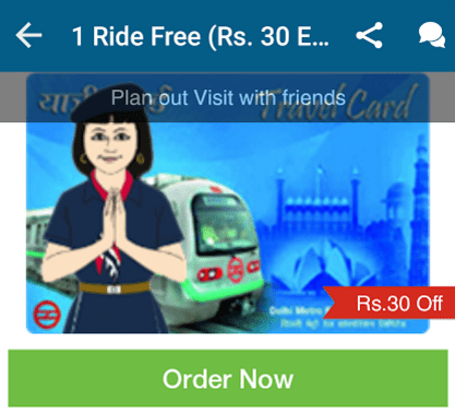 splitkart Rs 30 off on metro card recharge