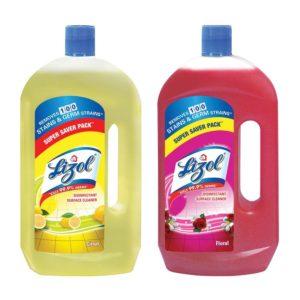 Buy Lizol Disinfectant Floor Cleaner - 975 ml (Citrus) with Lizol Disinfectant Floor Cleaner - 975 ml (Floral) for Rs.221 only