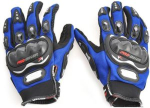 Buy Probiker Full Figer Riding Gloves (XL, Blue) for Rs.369 only