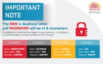 Examples of aadhaar card password how to get Original Aadhaar Card Anytime Anywhere