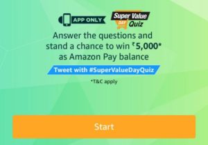 amazon-super-value-days-quiz-contest-2nd-january