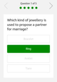 Amazon Nevi Jewellery Quiz Question