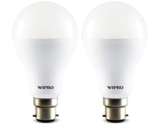 PaytmMall- Buy Wipro 10Watt LED Bulb Cool Day Light 6500K (Pack of 2) at Rs 99 (After cashback)