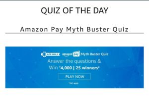 Amazon Myth Quiz today April