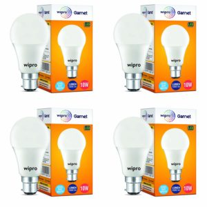 Wipro Garnet Base B22 10-Watt LED Bulb