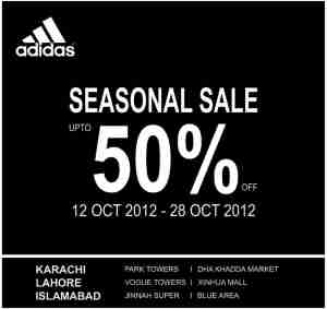Adidas Seasonal Sale 50% Off