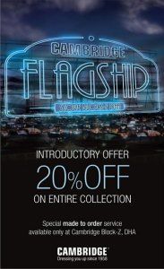 Cambridge Clothing Flagship Store DHA Lahore Discount 2013