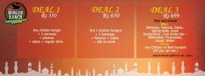 Burger Ranch Islamabad Iftar Deals 2014 Menu