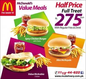 Deals In Pakistan » McDonald's Value Meal 2015
