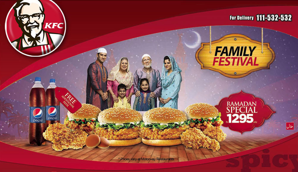 kfc family deals in lahore