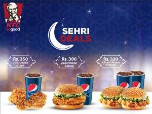 KFC Pakistan Sehri Deal 2016 Ramadan