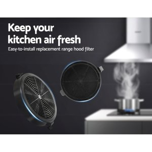 Devanti Pyramid Range Hood Rangehood Carbon Charcoal Filters Replacement For Ductless Ventless