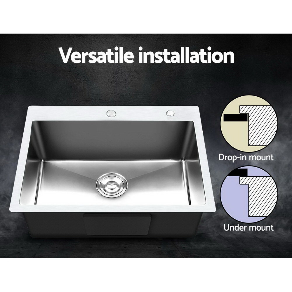 Cefito Stainless Steel Kitchen Sink 550x450MM SIngle Bowl Sinks Laundry Strainer