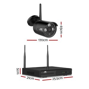 UL-tech CCTV Wireless Security Camera System 4CH Home Outdoor WIFI 4 Bullet Cameras Kit 1TB
