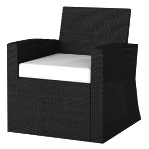 Corby 4 Seater Rattan Outdoor Sofa Lounge Set Black