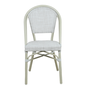 Morris White French Flair Outdoor Dining Chair Set