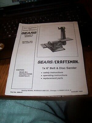 Craftsman 6×48 Belt And 9 Disc Sander Manual