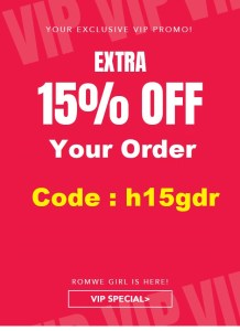 romwe 15 off coupon