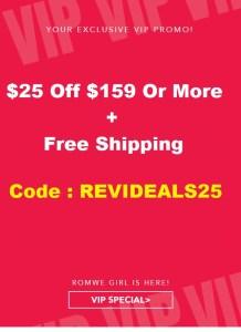 romwe Romwe $25 Off $159