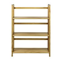 3-Shelf Casual Home Folding Stackable Bookcase