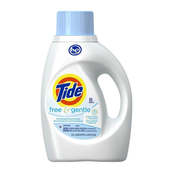 Tide Free and Gentle Liquid Laundry Detergent 50 Oz