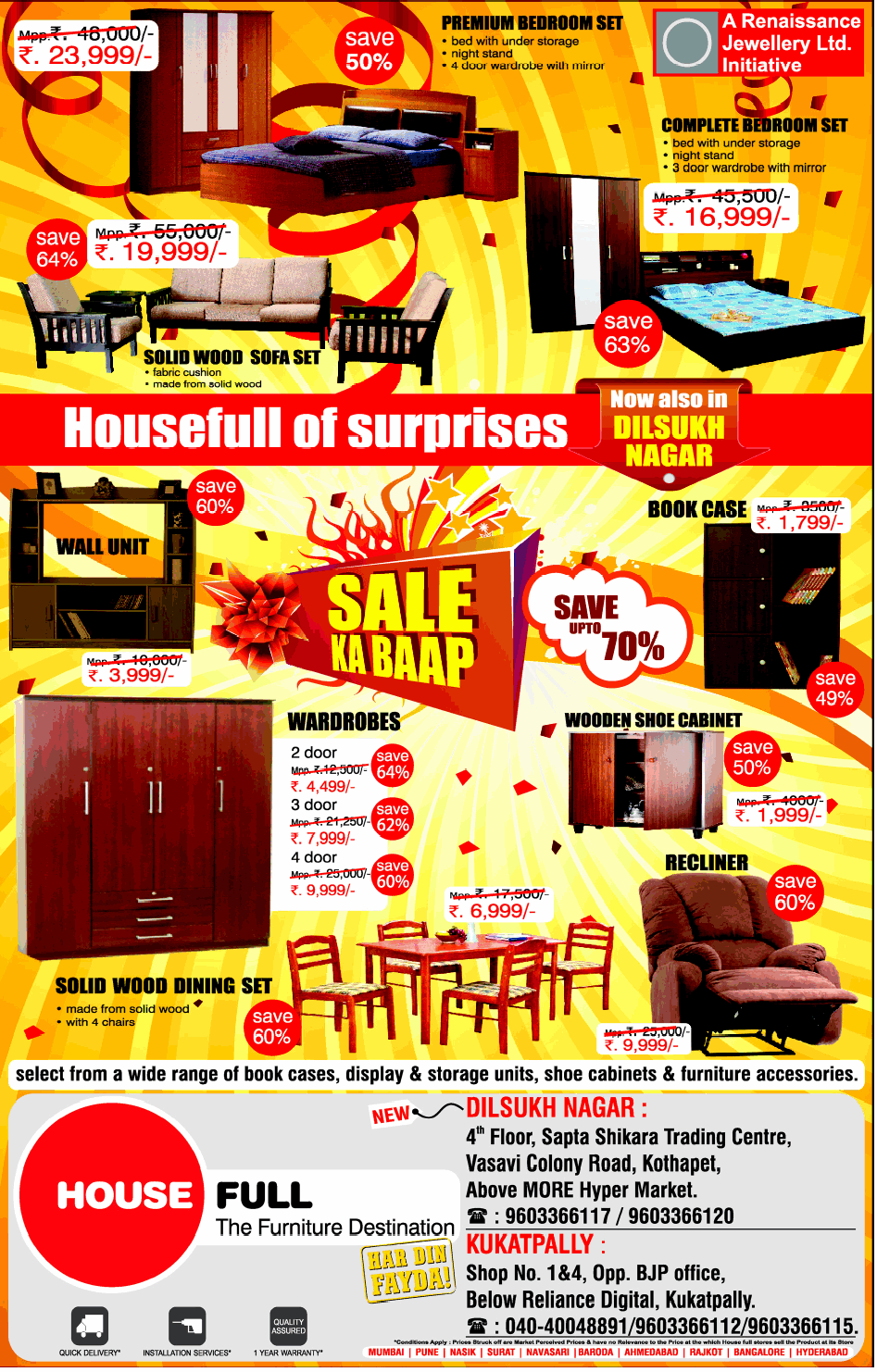 Housefull Of Surprises Of Sale Up To 70 At Dilsukhnagar