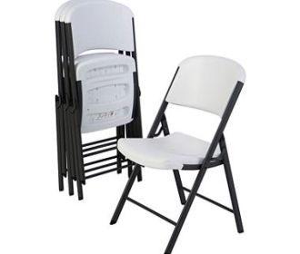 Buy 4-Pack Lifetime Commercial Grade Contoured Folding Chair for $99.99