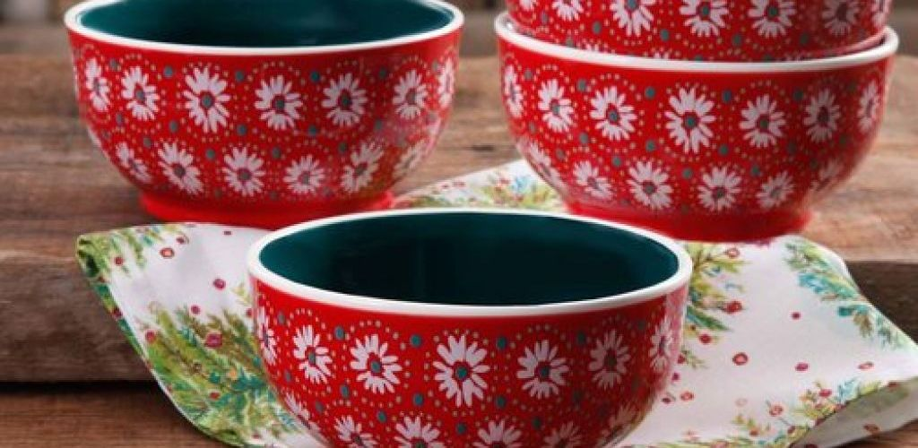 Buy 4-Pk The Pioneer Woman Holiday Daisy 6-Inch Bowl for $2.22 ea