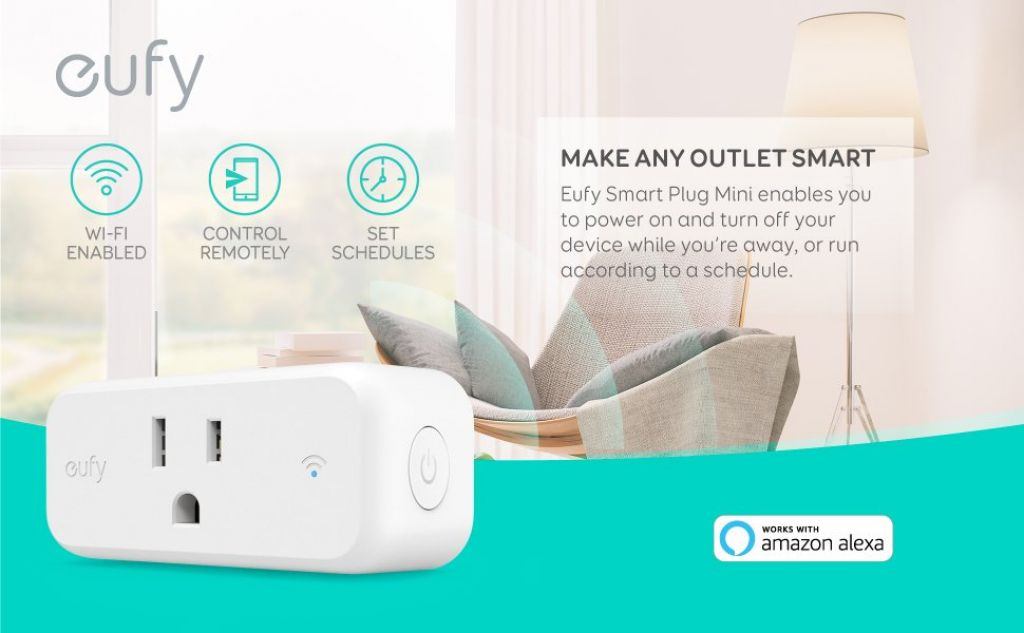 eufy Smart Plug Mini, Works With Amazon Alexa and the Google Assistant, Wi-Fi Enabled, White, No Hub Required, Set Schedules, Countdown Timer, Control Remotely, Away Mode, with Energy Monitoring - - Amazon.com