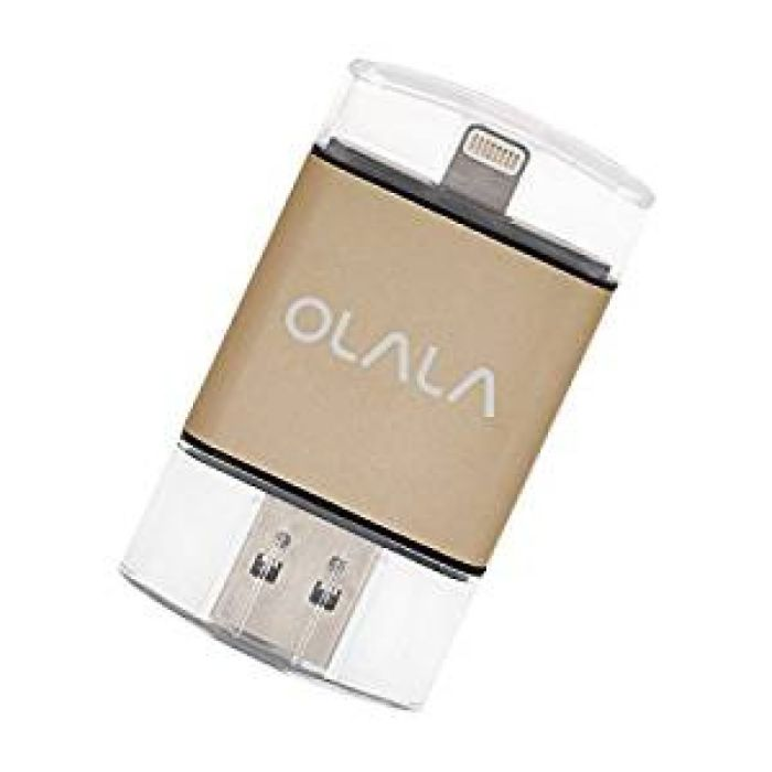 Amazon.com: iPhone iPad Flash Drive 64GB USB 3.0 Memory Stick with [Apple MFi Certified] Lightning Connector for iPod iOS Windows Mac, OLALA ID101 External Storage Expansion (Golden): Computers & Accessories
