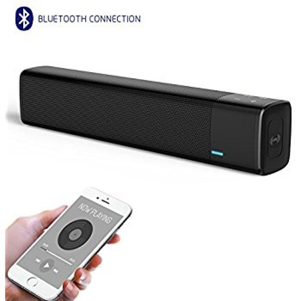 Amazon.com: XBUTY Wireless Bluetooth Sound Bar Speaker, Ultra Portable Bluetooth 4.1 Echo HiFi Sound Bar Stereo Speakers with 20W output, 10W dual drives, NFC Subwoofer, HD Sound and Bass for PC/Smartphone/TV: Home Audio & Theater