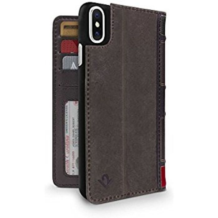 Amazon.com: Twelve South BookBook for iPhone X   3-in-1 leather wallet case, display stand and removable shell (brown): Cell Phones & Accessories