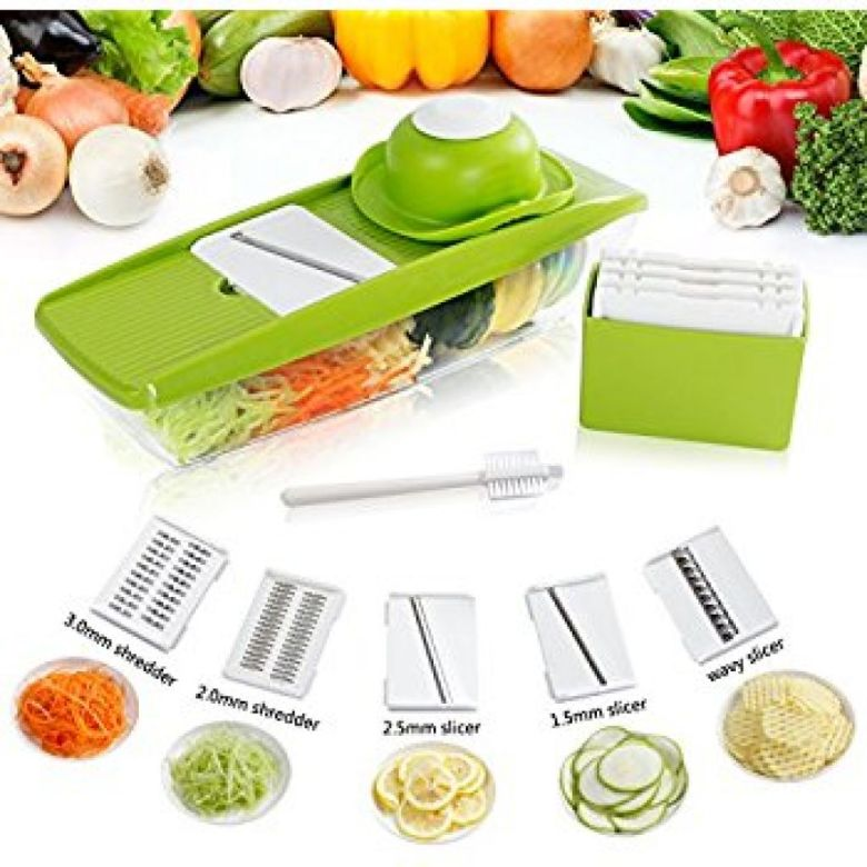 Amazon.com: Lifewit 5 Blades Mandoline Slicer Straight Slicer, Vegetable Cutter, Fruit Blade, Potato Wavy Blade: Kitchen & Dining