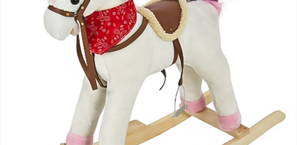 Buy Plush Rocking Horse Ride On Toy w/ Sounds for $39.99 (Was $129.95)