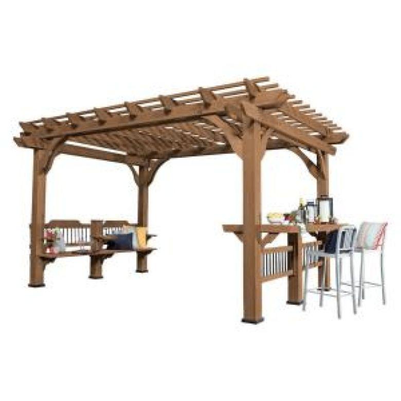 Buy Backyard Discovery Oasis 14 ft. x 10 ft. Cedar Pergola w ...