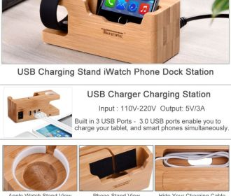 Buy 2-in-1 Apple Watch Charging Station & USB Charger Stand for $15.99