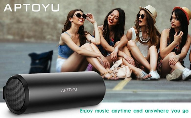 Amazon.com: Aptoyu Bluetooth Speakers with 24 Hour Playtime, Bluetooth Range and Built-In MIC, Dual-Driver Wireless Speaker with Super Bass, TF Card Support and 3.5 mm Aux Input: Car Electronics