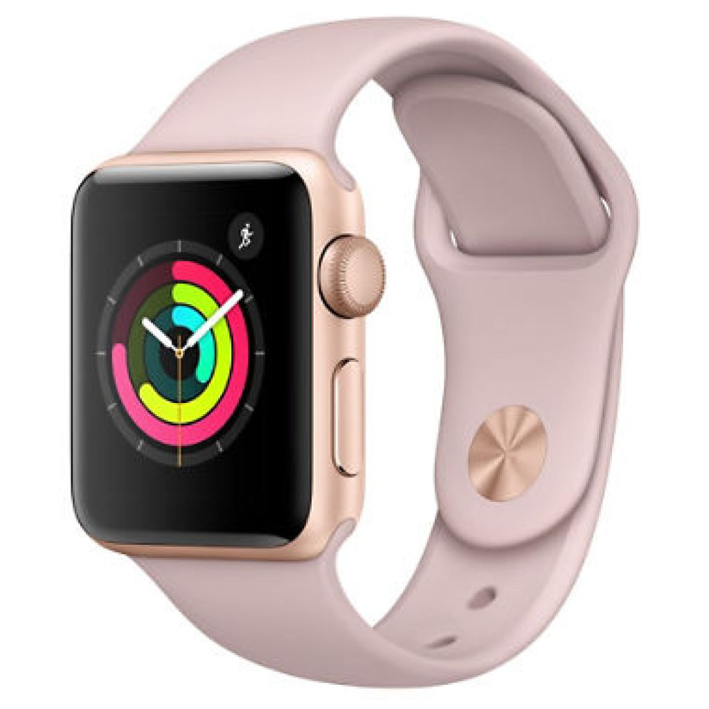 Apple Watch Series 3 GPS - Gold Aluminum Case with Pink Sand Sport Band (Choose Size) - Sam's Club