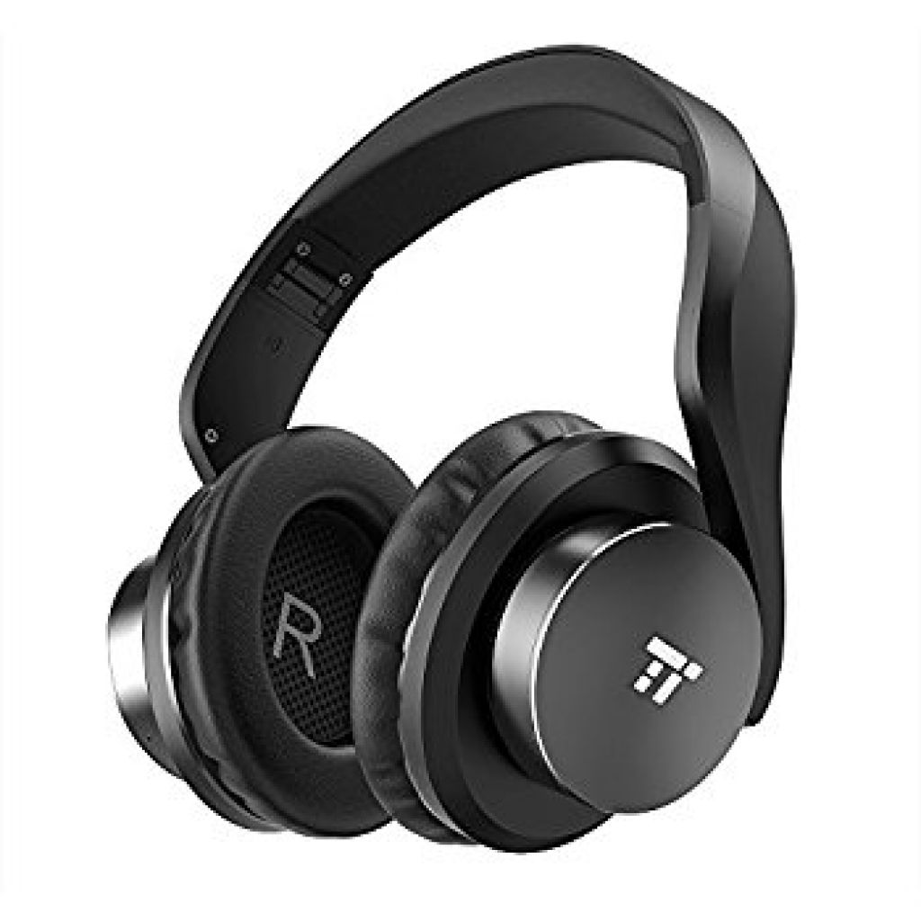 Amazon.com: Wireless Headset, TaoTronics Over Ear Bluetooth Headphones with Deep Bass & 25 Hours Playtime (Memory Foam Ear Pads, Dual 40 mm drivers, On Ear Control Buttons): Electronics
