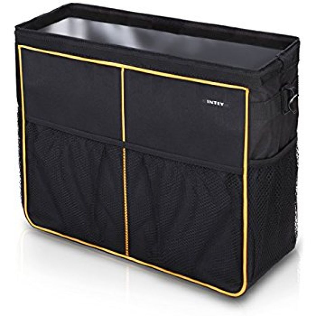 Amazon.com: INTEY Car Seat Back Organizer, Car Boot Bag, Storage Bag with Sturdy Base and Velcro Fastening Foldable Storage Box for Car, Truck, and SUV/MPV (small): Automotive