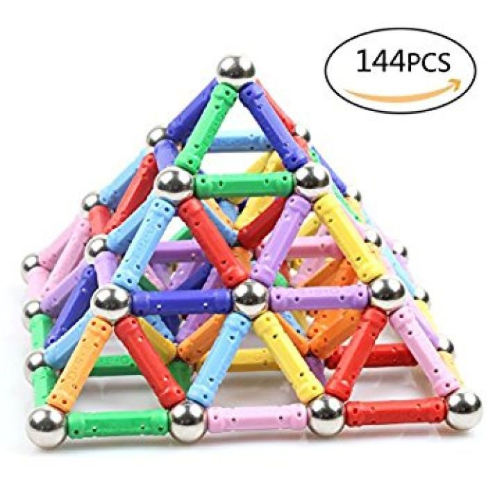 Amazon.com: Raresite Magnetic Blocks, Magnetic Building Set, Magnetic Tiles, Educational Toys Kits for Kids Over 4 Years Old: Toys & Games