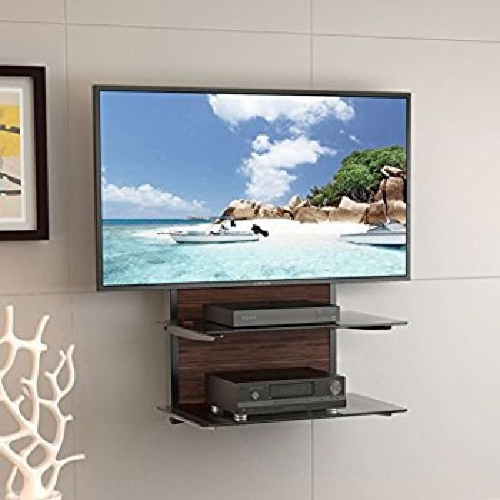 """Amazon.com: Three Floating DVD DVR Shelf – 3x Wall Mount AV Shelves (15x11 inch) with Strengthened Tempered Glass - for PS3, PS4, Xbox One, Xbox 360, TV box & Cable Box - Bonus 6"""" Slim HDMI Cable by PERLESMITH: Kitchen & Dining"""