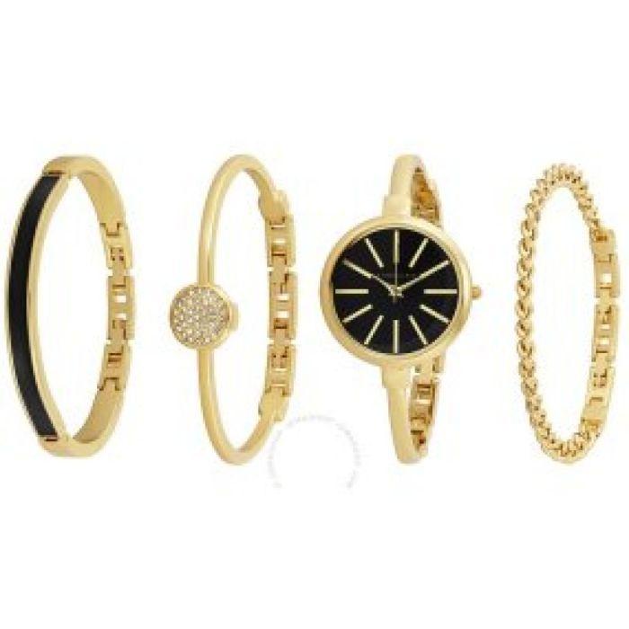 Amazon.com: Anne Klein Women's AK/1470GBST Gold-Tone Watch and Bracelet Set: Anne Klein: Watches