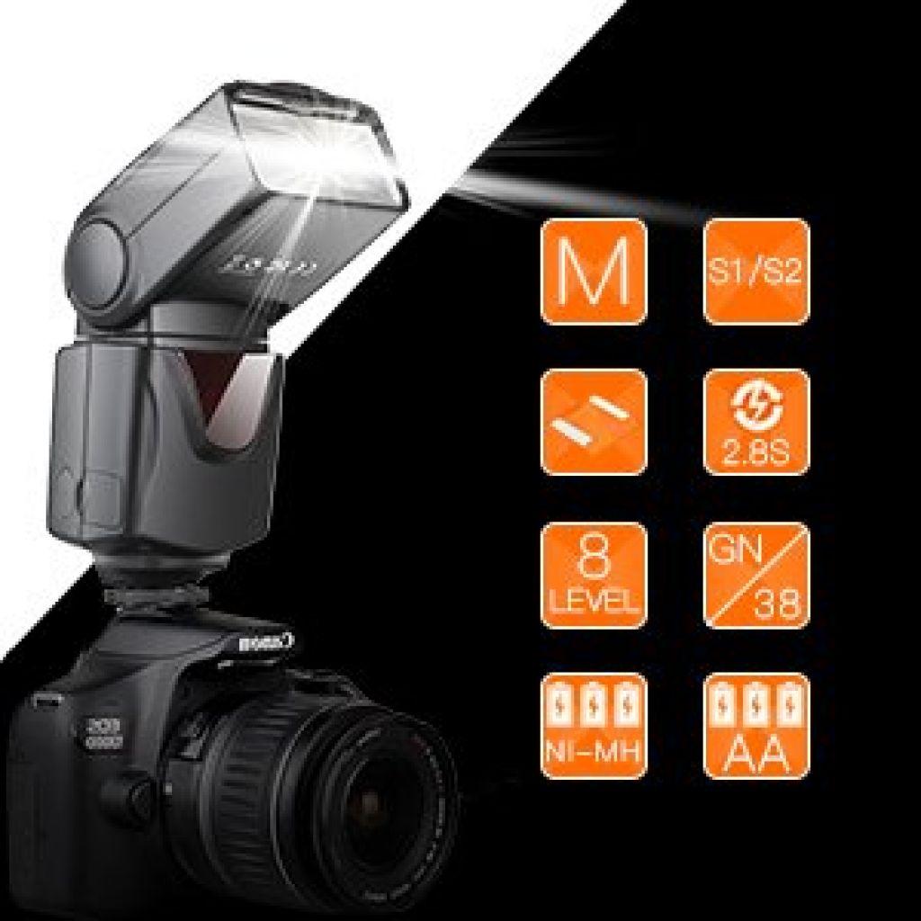 Amazon.com : SAMTIAN Speedlite Flash Professional Electronic Camera Flash Speedlight for Canon Nikon Panasonic Olympus Pentax DSLR Cameras : Camera & Photo
