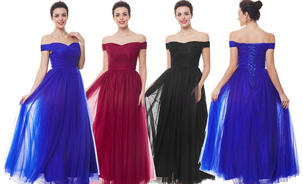 Buy Women Sleeveless Chiffon Evening Dress for $12.60 (Reg : $72.99)