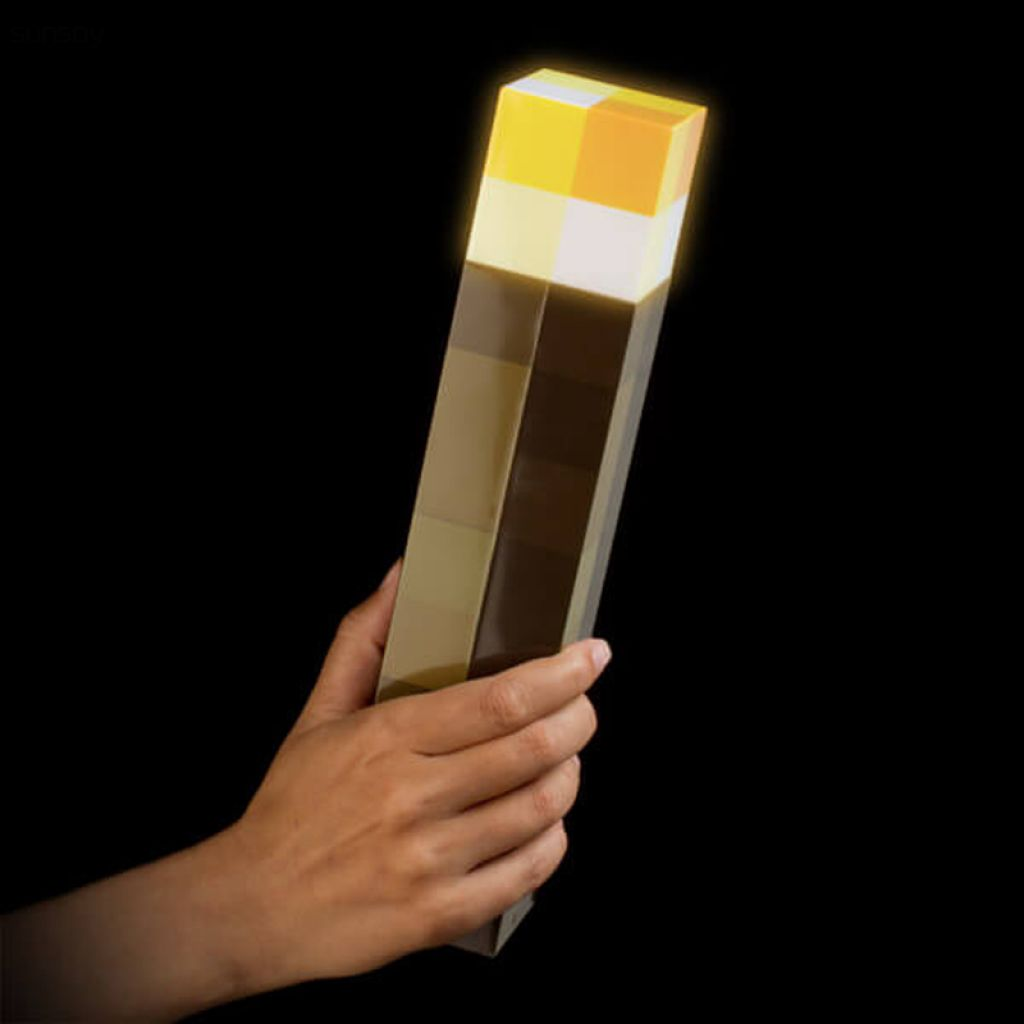 Light Up Minecraft Torch 28CM LED Minecraft Light Up Torch Hand Held or Wall Mount high brightness-in Action & Toy Figures from Toys & Hobbies on Aliexpress.com | Alibaba Group