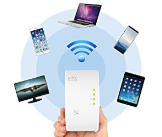 Buy Wireless Repeater 300Mbps WiFi Signal Amplifier Booster for $12.09