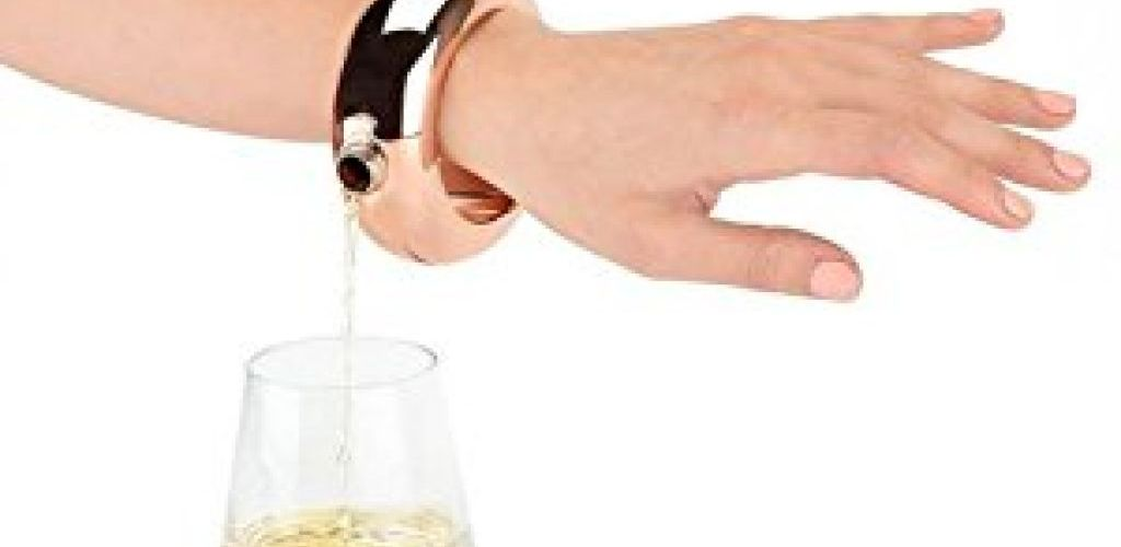 Buy Stainless Steel Bracelet Flask with Funnel in Rose Gold for $7.97